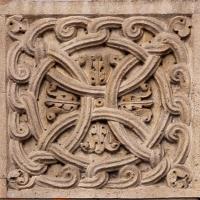 Ambito di wiligelmo, porta della pescheria, 03 favole di esopo, 02,2 motivo decorativo - Sailko - Modena (MO)