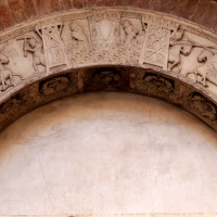 Ambito di wiligelmo, porta della pescheria, 02 ciclo di artù 01 - Sailko - Modena (MO)