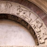 Ambito di wiligelmo, porta della pescheria, 02 ciclo di artù 04 - Sailko - Modena (MO)