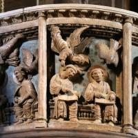 Anselmo da campione e aiuti, pontile del duomo di modena, 1160-80 ca., ambone coi simbolio degli evangelisti del 1208-1225 ca. 01 - Sailko - Modena (MO)