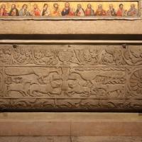 Lastra con la croce e animali affrontati, ix secolo - Copia - Sailko - Modena (MO)