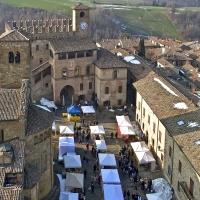 Palazzo del Podestà e la piazza Monumentale - Carlo grifone - Castell'Arquato (PC)