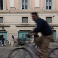 Piazza cavalli in bicicletta - Filmarche - Piacenza (PC)