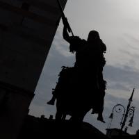 Silohuette di staua equestre - Filmarche - Piacenza (PC)