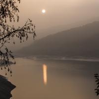 Tramonto sul lago del Molato - Losig - Nibbiano (PC)