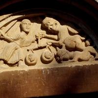 Pieve Romanica di San Biagio particolare lunetta - Valerioberta - Sala Baganza (PR)