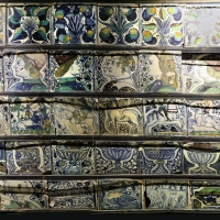 Bottega pesarese, pavimento maiolicato dal monastero di san paolo a parma, 1470-82 ca., 00 - Sailko - Parma (PR)