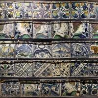 Bottega pesarese, pavimento maiolicato dal monastero di san paolo a parma, 1470-82 ca., 09 - Sailko - Parma (PR)