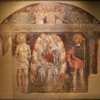 Jacopo loschi, madonna col bambino in trono e i ss. sebastiano e rocco, 1480-90 ca., dall'oratorio di san girolamo - Sailko - Parma (PR)