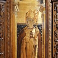 Bernardino da lendinara, due tronetti lignei con vedute di città e i ss. ilario e giovanni battista, 1494, 03 - Sailko - Parma (PR)