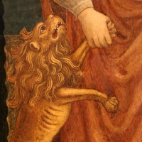 Jacopo loschi, visitazione tra i ss. ilario e girolamo, 1460-70 ca. 02 leone - Sailko - Parma (PR)