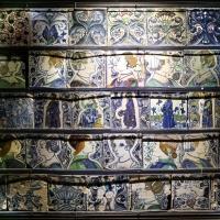 Bottega pesarese, pavimento maiolicato dal monastero di san paolo a parma, 1470-82 ca., 02 - Sailko - Parma (PR)