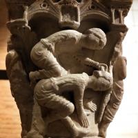 Benedetto antelami, capitello con storie della genesi 02, dal duomo di parma, 1178, caino uccide abele - Sailko - Parma (PR)
