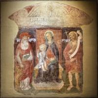 Jacopo loschi, madonna col bambino in trono tra i ss. girolamo e giovanni in battista, 1480-90 ca., fda s. girolamo a parma - Sailko - Parma (PR)