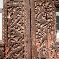 Portale di san bertoldo, in legno intagliato, dalla chiesa di s. alessandro a parma, x secolo 02 - Sailko - Parma (PR)