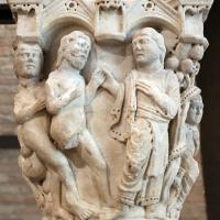 Benedetto antelami, capitello con storie della genesi 01, dal duomo di parma, 1178, dio conduce adamo ed eva nel paradiso terrestre - Sailko - Parma (PR)