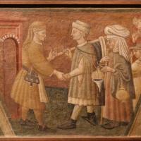 Scuola parmense, opere di misericordia, 1450 ca., ospitare i pellegrini - Sailko - Parma (PR)