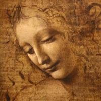 Leonardo da vinci, testa di fanciulla detta la scapigliata, 1500-10 ca., disegno su tavola, 02 - Sailko - Parma (PR)