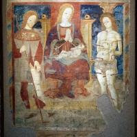 Scuola parmense, madonna col bambino in trono tra i ss. rocco e sebastiano, 1490 ca, dal castello di torrechiara - Sailko - Parma (PR)