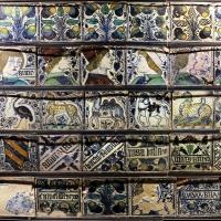 Bottega pesarese, pavimento maiolicato dal monastero di san paolo a parma, 1470-82 ca., 08 - Sailko - Parma (PR)