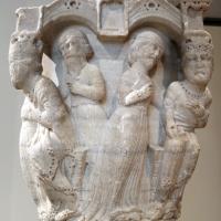 Benedetto antelami, capitello con storie bibliche, dal duomo di parma, 1178, regina di saba - Sailko - Parma (PR)