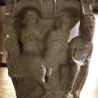 Benedetto antelami, capitello con storie bibliche, dal duomo di parma, 1178, david riceve annuncio della morte di assalonne - Sailko - Parma (PR)