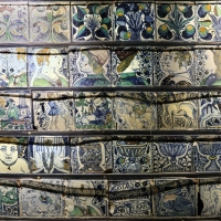 Bottega pesarese, pavimento maiolicato dal monastero di san paolo a parma, 1470-82 ca., 05 - Sailko - Parma (PR)