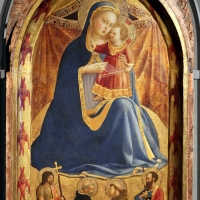 Beato angelico, madonna dell'umiltà e santi g. battista, domenico, francesco e paolo, 1425-30, 01 - Sailko - Parma (PR)