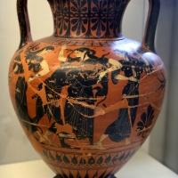 Anfora attica con lotta di peleo e teti e thiasos, 525-500 ac ca - Sailko - Parma (PR)