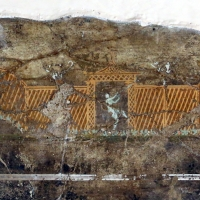 Frammento di intonaco parietale, da veleia, 02 giardino - Sailko - Parma (PR)