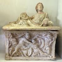 Volterra, urna cineraria con scena di combattimento (eteocle e polinice) 02 - Sailko - Parma (PR)