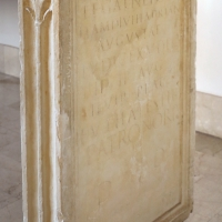 Età antonina, stele del venator, fatta fare dal liberto euthales, da veelia 02 - Sailko - Parma (PR)