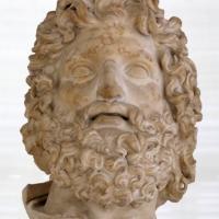 Età antoniniana, testa colossale di zeus, da un originale ellenistico - Sailko - Parma (PR)