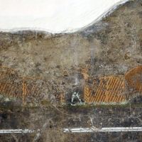 Frammento di intonaco parietale, da veleia, 03 incannicciato - Sailko - Parma (PR)