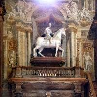 Teatro farnese, statua equestre di alessandro farnese, sopravvissuta al progetto originale seicentesco - Sailko - Parma (PR)