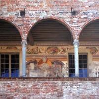 Rocca Sanvitale - colonnato e affreschi - Micronautilus - Fontanellato (PR)