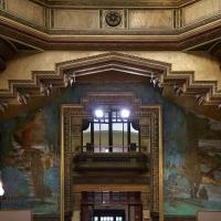 Salsomaggiore, ex-grand hotel, interno, salone moresco, affreschi galileo chini con rivisitazione di Leda e il cigno 10 - Sailko - Salsomaggiore Terme (PR)