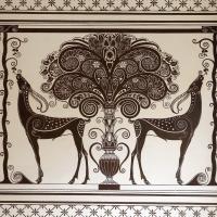 Salsomaggiore, ex-grand hotel, interno, monocromi di galileo chini, uccelli del paradiso 02 - Sailko - Salsomaggiore Terme (PR)