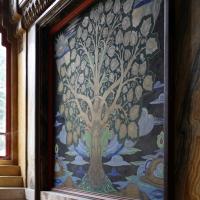 Salsomaggiore, ex-grand hotel, interno, taverna rossa, di galileo chini, 00 scala di accesso, albero 03 - Sailko - Salsomaggiore Terme (PR)