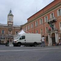 Orologio e prefettura in piazza del popolo - Montanarigiorgio - Ravenna (RA)
