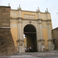 Porta adriana la facciata con le vecchie mura del centro - Montanarigiorgio - Ravenna (RA)