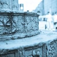 Basamento colonne piazza del popolo - mario casadio - Ravenna (RA)