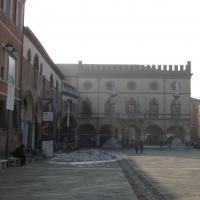 Piazza del popolo con la neve - Lstorato - Ravenna (RA)