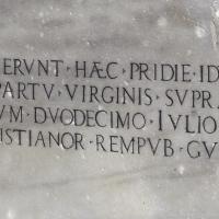 Colonna dei Francesi epigrafe lato sud ovest - Ediemme - Ravenna (RA)