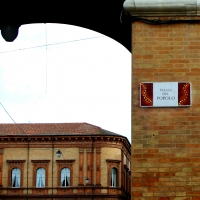 Targa toponomastica musiva - Federfabbri - Ravenna (RA)