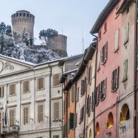 Rocca vista dal centro storico di Brisighella - Vanni Lazzari - Brisighella (RA)