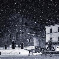 Piazza Faenza sotto la neve - Lorenzo Gaudenzi - Faenza (RA)