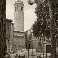 Il campanile con la neve - Gianni Saiani - Ravenna (RA)