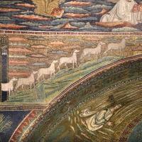 Sant'apollinare in classe, mosaici dell'arcone, 12 agnelli che escono da gerusalemme e betlemme (VII sec.) 10 - Sailko - Ravenna (RA)
