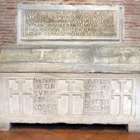 Sant'apollinare in classe, interno, sarcofagi ravennati 03, VI-VII secolo ca - Sailko - Ravenna (RA)